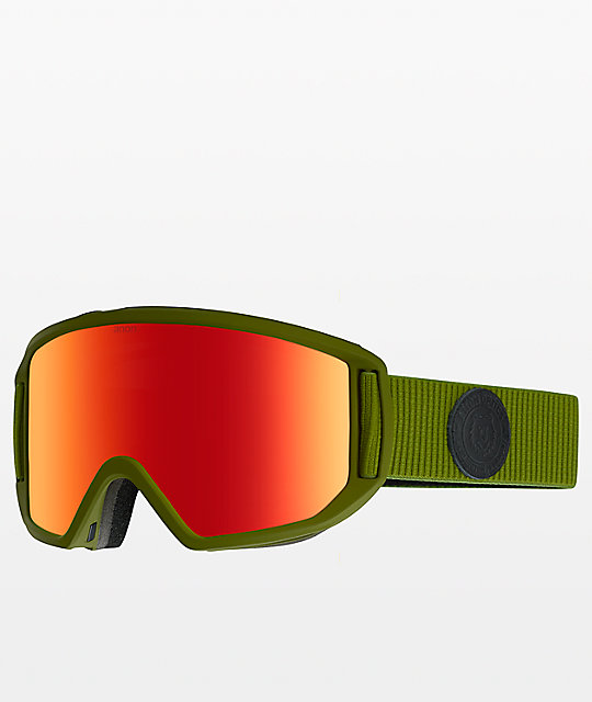 b2ae314b6e70 ... Anon Relapse Bear Green Red Solex Snowboard Goggles