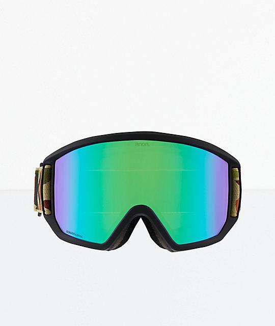 96893daa04be ... Anon Relapse Duck Camo SONAR Green Snowboard Goggles