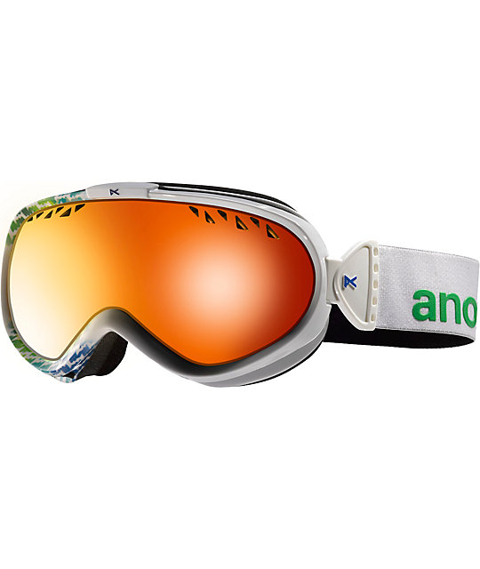 Anon Solace White Aura & Solex Rouge Womens Snowboard Goggles