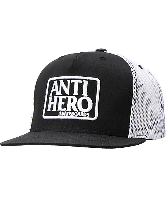 015ac39f Anti-Hero Reserve Black & White Trucker Hat | Zumiez