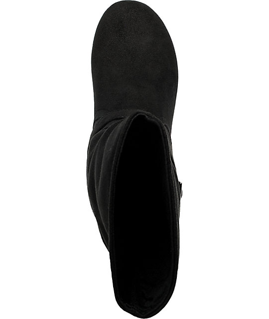 Antic Hematite Black Suede Boot