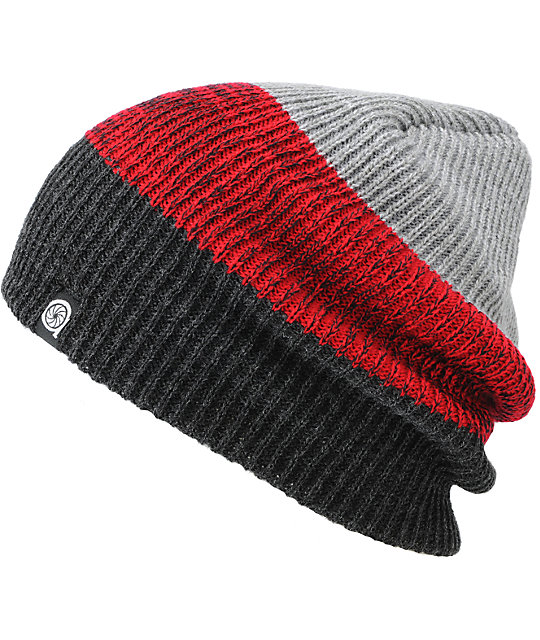 Aperture Ernesto Grey, Red & Black Beanie