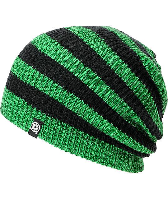231215c2bd1 Aperture Estebon Green   Black Stripe Beanie
