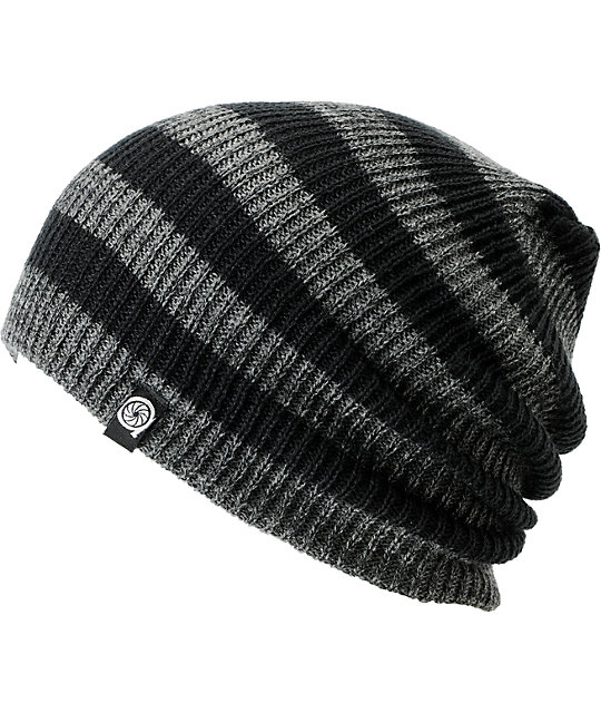 Aperture Estebon Grey   Black Stripe Beanie  8a9c21285a9
