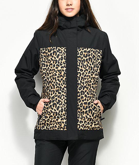 Negra Snowboard De Zumiez Aperture Y Glisten Chaqueta 10k Leopardo 1nIxSf6qXS