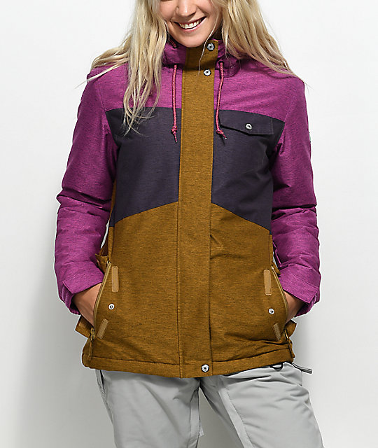 Aperture Heaven Purple & Tobacco 10K Snowboard Jacket
