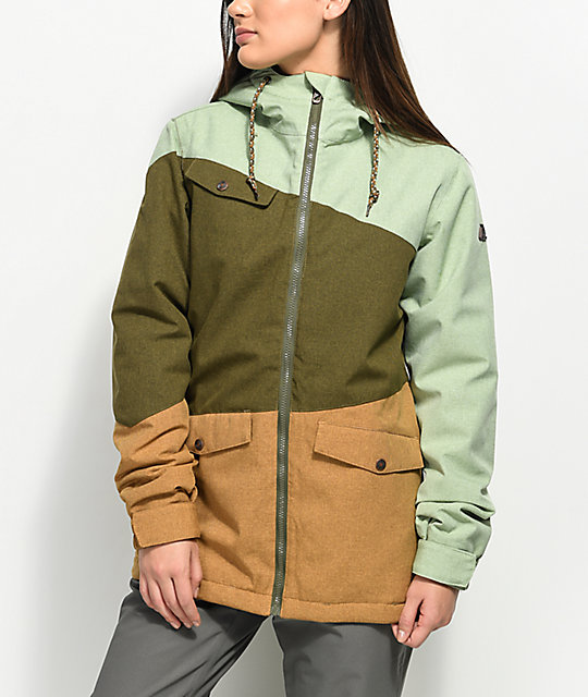 Aperture Outerlimits Olive & Tobacco 10K Snowboard Jacket