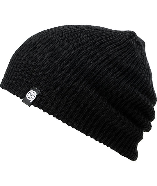Aperture Pedro Black Slouch Beanie