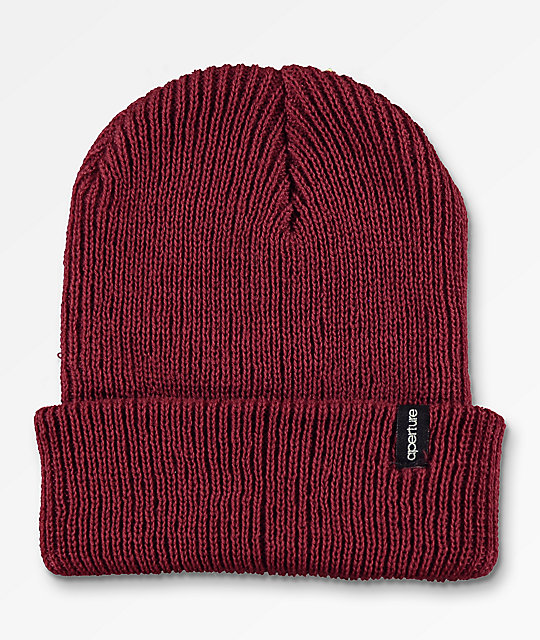 Aperture Pedro Burgundy Slouch Beanie