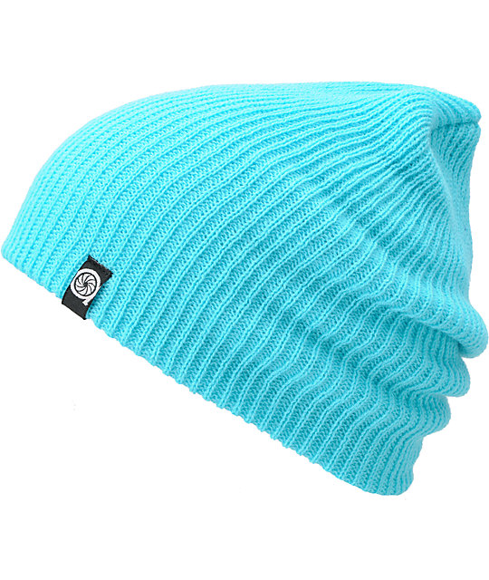 Aperture Pedro Cyan Slouch Beanie
