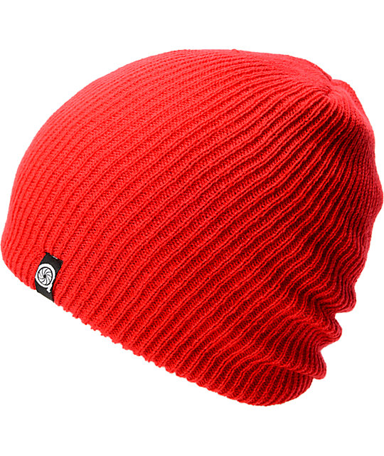 Aperture Pedro Red Slouch Beanie  aa8f3195f94