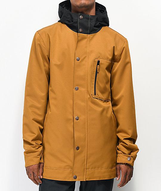 diseño unico último diseño al por mayor en línea Aperture Stratus 10K chaqueta de snowboard de color tabaco | Zumiez
