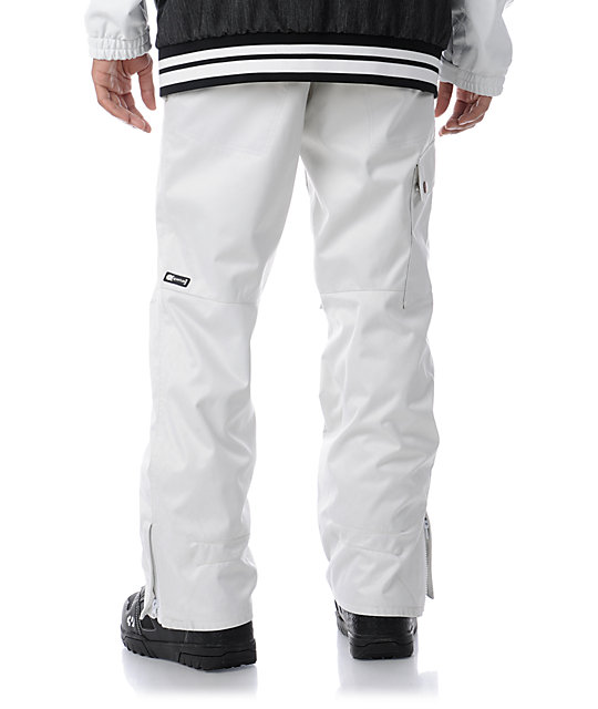 Aperture Union White 10K Mens Snowboard Pants