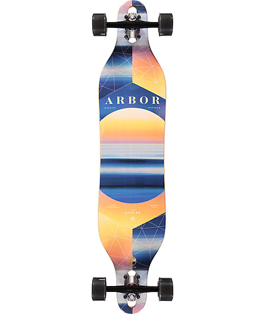 "Arbor Axis Photo Collaboration 40"" Drop Through Longboard Complete"