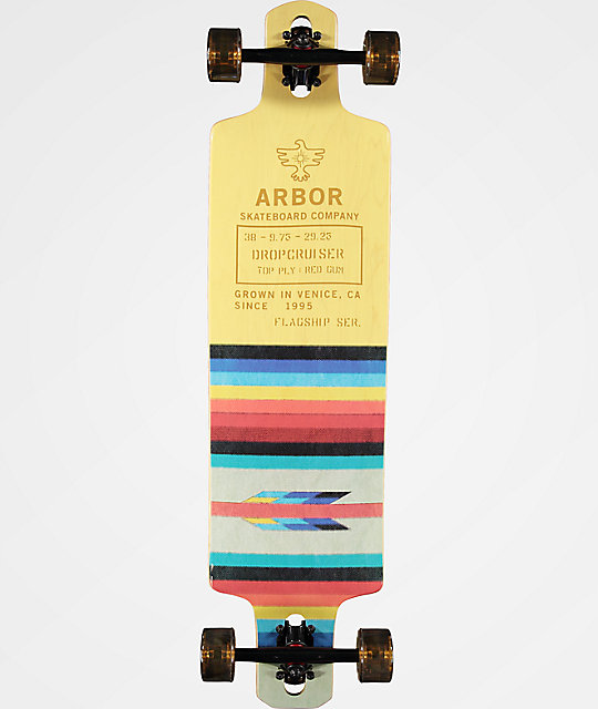 "Arbor Drop Cruiser Flagship 38"" Drop Through Longboard Complete"