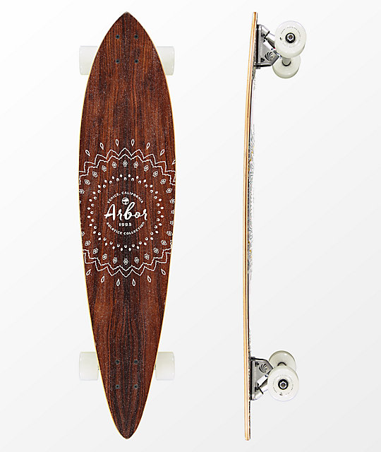 "Arbor Fish Solstice 37"" Pintail Longboard Complete"