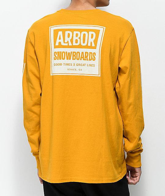 Arbor Moto Mustard Long Sleeve T-Shirt  d26391eaa51