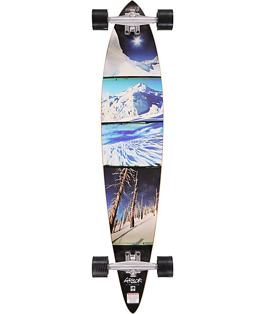 "Arbor Timeless 46""  Pin Tail Longboard Complete"