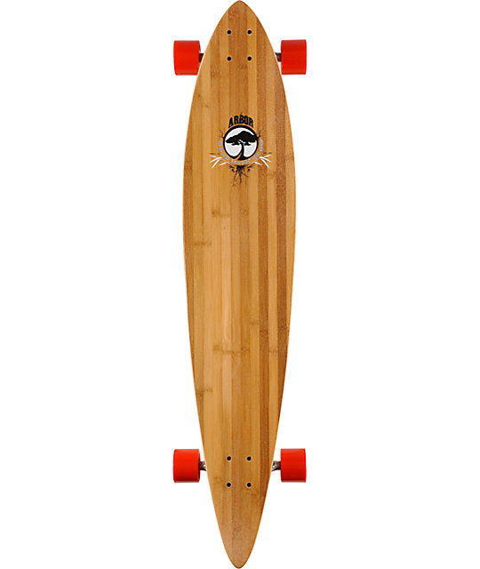 "Arbor Timeless Pintail 46""  Bamboo Longboard"