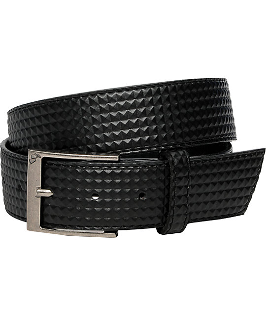 Armourdillo Pyramid Embossed Black Belt