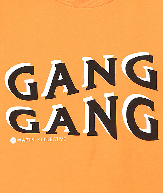 Artist Collective Gang Gang Wave Orange T-Shirt
