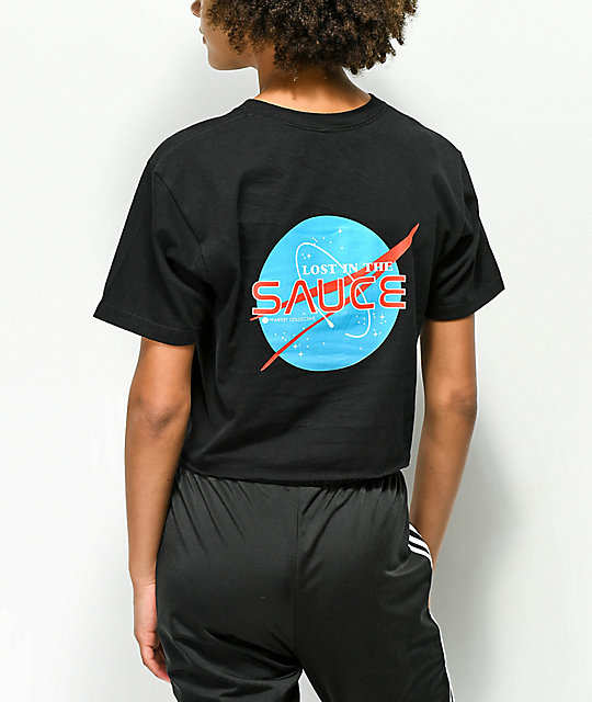 Artist Collective Lost In The Sauce  camiseta corta negra