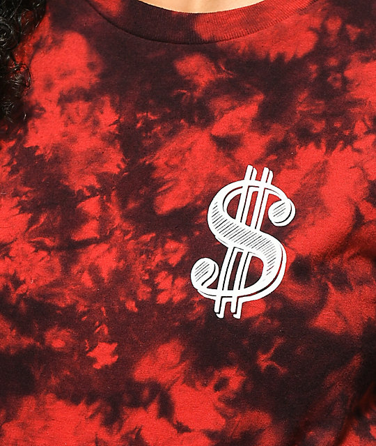 Artist Collective Money Moves Red Tie Dye T-Shirt