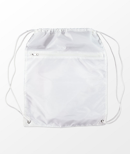 Artist Collective Petty White & Pink Cinch Bag