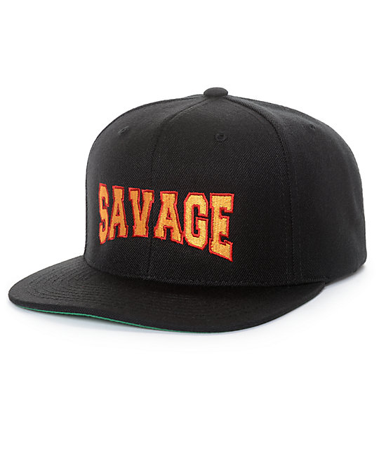 4a14b4d1447a4 Artist Collective Savage Black Snapback Hat