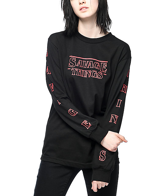 39ab667ba8d Artist Collective Savage Things Black Long Sleeve T-Shirt | Zumiez