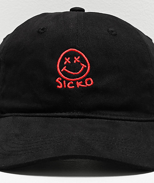 Artist Collective Sicko Face gorra negra