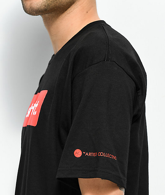 Artist Collective Skrt Box Logo Black T-Shirt