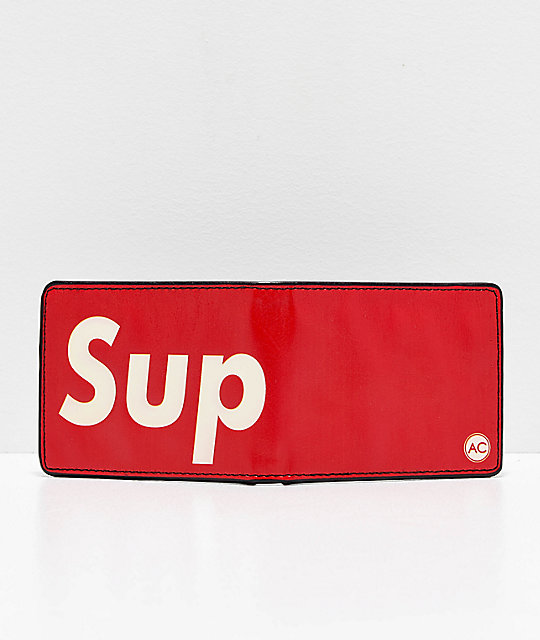 Artist Collective Sup Red Bifold Wallet