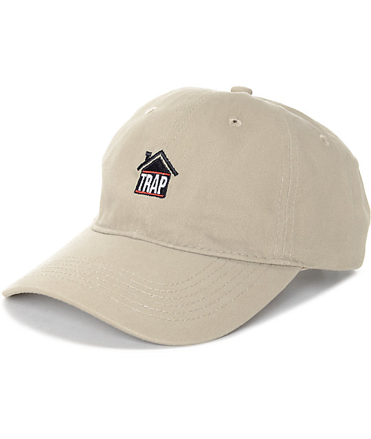 Artist Collective Trap House Khaki Baseball Hat  ba2b2d0a302