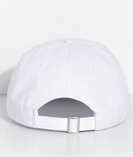Artist Collective Trap House White Strapback Hat