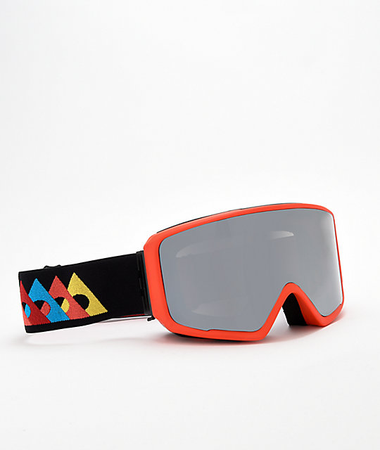 Ashbury Arrow Flash Red & Black Snowboard Goggles