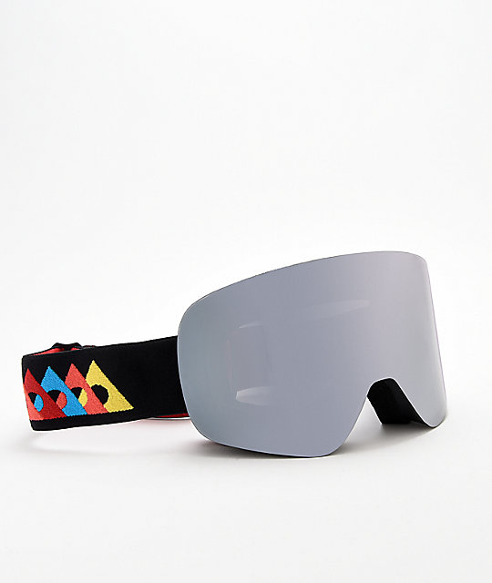 Ashbury Arrow Flash gafas de snowboard en negro y plata
