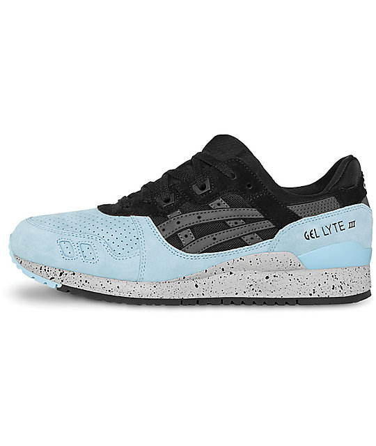 new style a5261 914a3 Asics Gel-Lyte III Black & Powder Blue Shoes