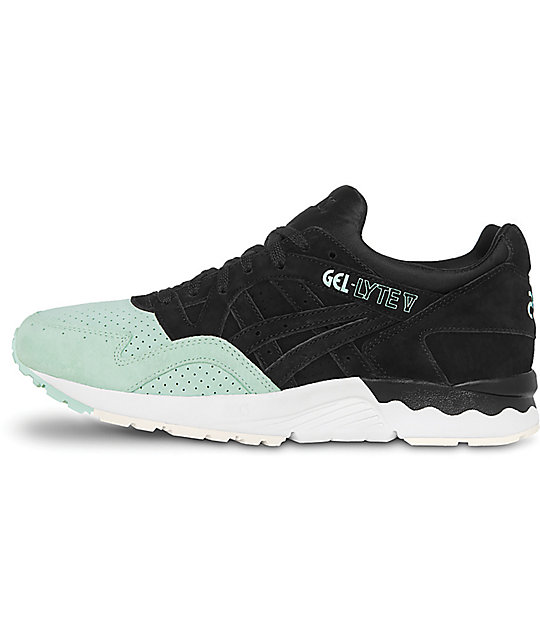 new products b999a e7c84 Asics Platinum Gel-Lyte V Black & Mint Shoes