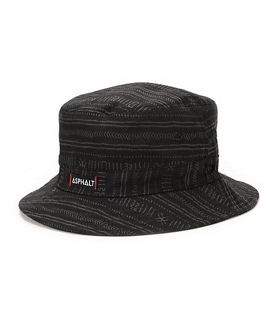 e9a3b5911e3 Asphalt Yacht Club Nautical 2 Black Bucket Hat ...