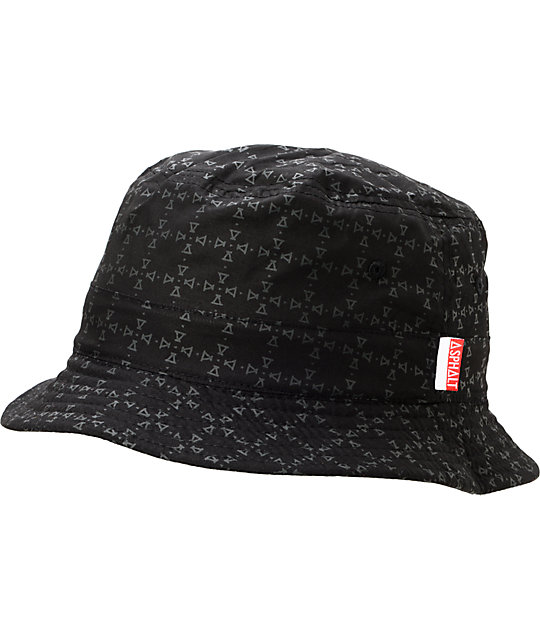 50108968b2f ... Asphalt Yacht Club Reversible Nautical Black Bucket Hat