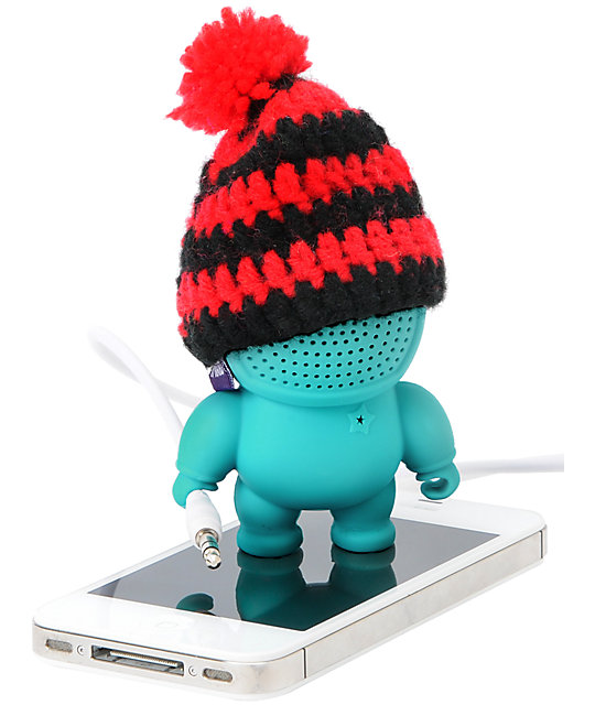 Audiobot Cyan Beanie Bot Powered Speaker