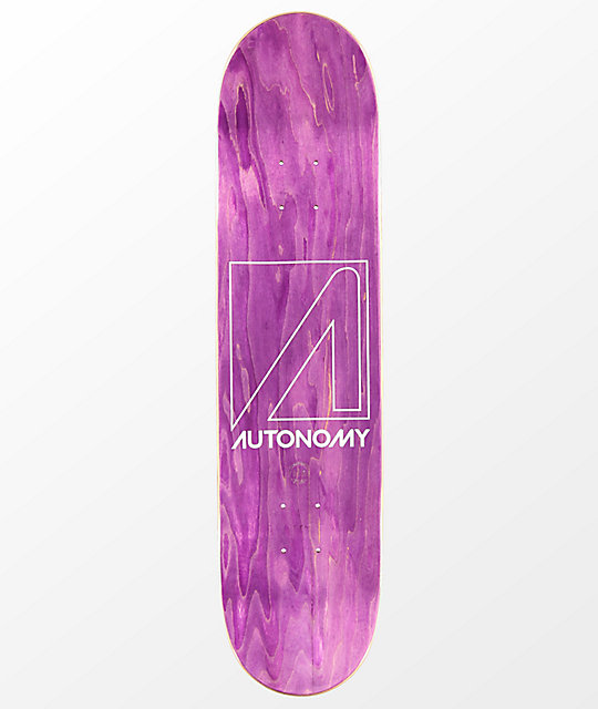 "Autonomy Red Logo 7.75"" Skateboard Deck"