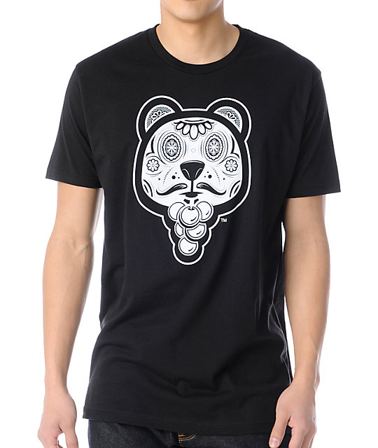 B3AR FRUIT Bear Bones Baxter Black T-Shirt