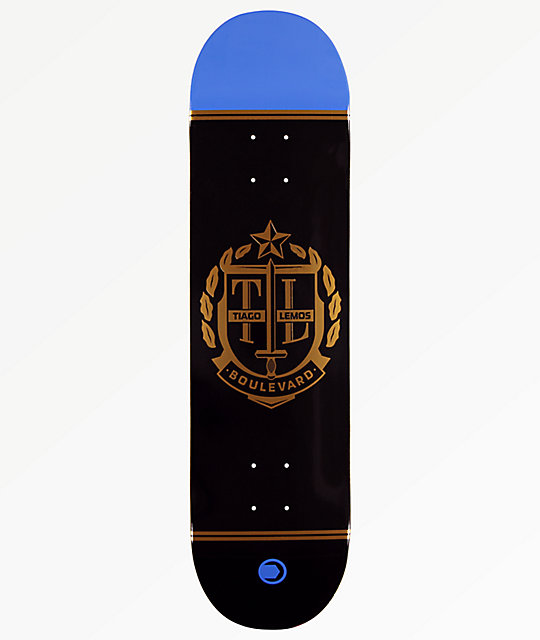 "BLVD Tiago Lemos Shield 8.0"" Skateboard Deck"