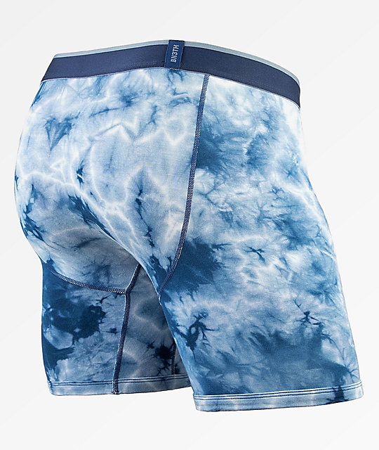 BN3TH Shibori Teal Acid Wash Boxer Briefs