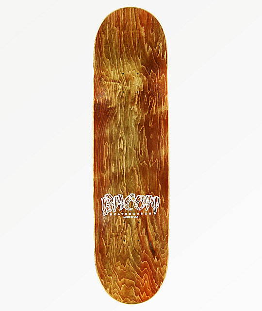 "Bacon Graffiti Font 8.75"" tabla de skate"
