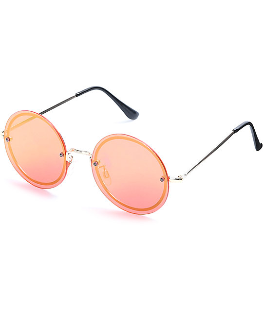 dcee32ff557 Bailey Rimless Round Sunglasses
