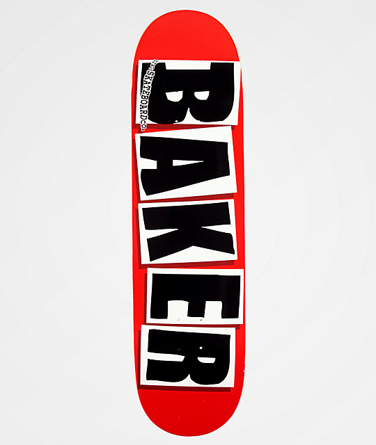 Baker Brand Logo Black & Red 8.38