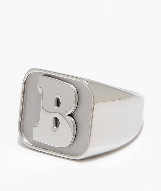 Baker Capital B Silver Ring